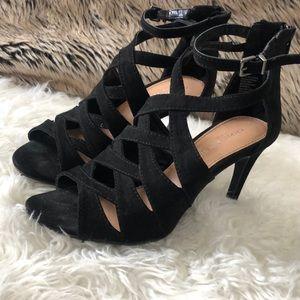 Christian Sirano Black Strappy Heels Size 5